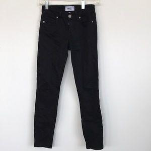Paige denim black skinny jeans
